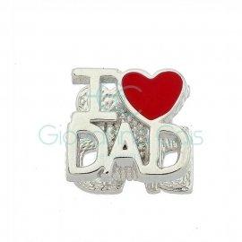 Berloque I Love Dad Prata 925